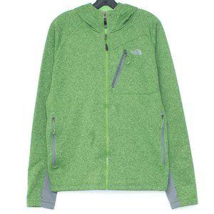 North Face Jacket Full Zip Hoodie Green Large EI